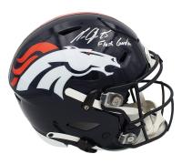 Melvn Gordon Signed Broncos Full-Size Authentic On-Field SpeedFlex Helmet (Fanatics Hologram) at PristineAuction.com