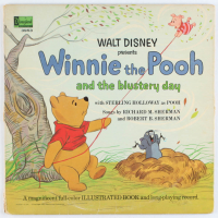 """Vintage 1967 Walt Disney's """"Winnie the Pooh and the Blustery Day"""" Illustrated Book Vinyl Record Album at PristineAuction.com"""