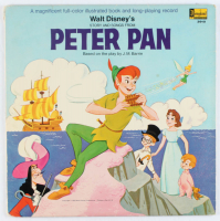 "Vintage 1959 Walt Disney's ""Peter Pan"" Illustrated Book with Vinyl Record Album at PristineAuction.com"