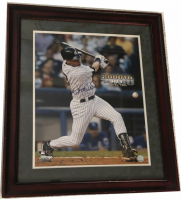 "Derek Jeter Signed Yankees ""2000th Hit"" 22x28 Custom Framed Photo (Steiner COA) at PristineAuction.com"
