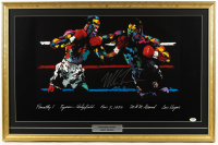 Mike Tyson Signed 21x32 1996 LeRoy Neiman Original Fight Lithograph with LeRoy Neiman Imprinted Seal (PSA COA) at PristineAuction.com