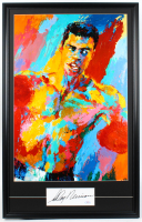 """LeRoy Neiman Signed 23x36 Custom Framed Cut Display with Vintage """"Muhammad Ali"""" Lithograph (PSA COA) at PristineAuction.com"""