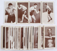 Complete Set of (50) 1938 Churchman's Cigarettes Boxing Cards with Jack Johnson #20, Joe Louis #26, Jack Dempsey #12, James Braddock #6, Gene Tunney #35 at PristineAuction.com