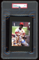 Lou Brock Signed Cardinals 4x6 Photo Cut (PSA Encapsulated) at PristineAuction.com