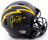 Justin Herbert Signed Chargers Full-Size Eclipse Alternate Speed Helmet (Beckett COA) at PristineAuction.com