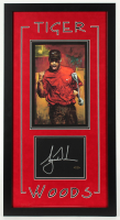 Tiger Woods Signed 17x32 Custom Cut Display (UDA COA) at PristineAuction.com