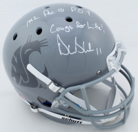 "Drew Bledsoe Signed Washington Cougars Full-Size Helmet Inscribed ""1992 PAC 10 P.O.Y."" & ""Cougs For Life!"" (PSA COA) at PristineAuction.com"