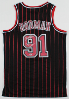 """Dennis Rodman Signed Bulls Jersey Inscribed """"The Worm"""" (Beckett COA) at PristineAuction.com"""