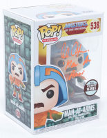 "Alan Oppenheimer Signed ""He-Man and the Masters of the Universe"" #538 Man-At-Arms Funko Pop! Vinyl Figure Inscribed ""Man At Arms"" (Beckett COA) at PristineAuction.com"