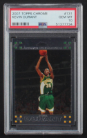 Kevin Durant 2007-08 Topps Chrome #131 RC (PSA 10) at PristineAuction.com