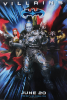 """Batman & Robin"" 27x40 Villains Teaser Double Sided Movie Poster at PristineAuction.com"