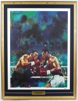 Mike Tyson Signed 24x31 Custom Framed Vintage LeRoy Neiman Original Fight Lithograph Display (PSA COA) at PristineAuction.com