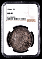 1900 Morgan Silver Dollar (NGC MS64) (Toned) at PristineAuction.com