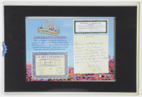 """""""The Wizard of Oz"""" 5x7 Collectible Prop Card with (3) Authentic Prop Pieces (Odyssey COA) at PristineAuction.com"""