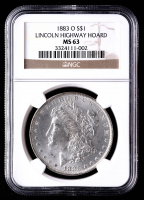 1883-O Morgan Silver Dollar - Lincoln Highway Hoard (NGC MS63) at PristineAuction.com