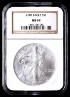 2005 American Silver Eagle $1 One Dollar Coin (NGC MS69) at PristineAuction.com