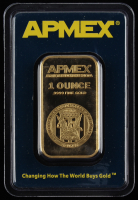 "1 Ounce .9999 Fine Gold ""APMEX"" Bullion Bar at PristineAuction.com"