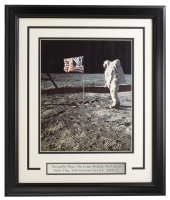 Buzz Aldrin 16x19 Custom Framed Photo Display at PristineAuction.com