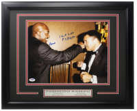 Muhammad Ali & Evander Holyfield Signed 16x20 Custom Framed Photo Display (PSA LOA) at PristineAuction.com