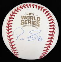 Pedro Strop Signed 2016 World Series Logo Baseball (Beckett COA) at PristineAuction.com