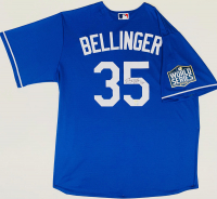Cody Bellinger Signed Dodgers Jersey with 2020 MLB World Series Logo Patch (Fanatics Hologram) at PristineAuction.com