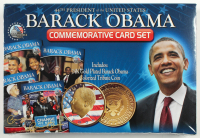 Merrick Mint Barack Obama Trading Card Set of (44) Cards With Commemorative 24K Gold Plated Coin at PristineAuction.com