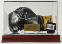 Mike Tyson Signed Vintage Everlast Boxing Glove with All New Wood Base Display Case (PSA COA) at PristineAuction.com