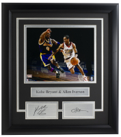 Kobe Bryant & Allen Iverson 14x18 Custom Framed Photo Display at PristineAuction.com