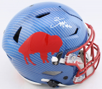 Zack Moss Signed Bills Full-Size Authentic On-Field Hydro-Dipped SpeedFlex Helmet (Beckett COA) at PristineAuction.com