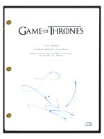"""Liam Cunningham Signed """"Game of Thrones"""" Pilot Episode Script (AutographCOA COA) at PristineAuction.com"""