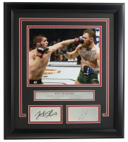 "Conor McGregor & Khabib Nurmagomedov ""UFC Legends"" 14x18 Custom Framed Photo Display at PristineAuction.com"