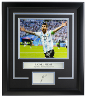 Lionel Messi Team Argentina 14x18 Custom Framed Photo Display at PristineAuction.com