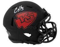 Clyde Edwards-Helaire Signed Chiefs Eclipse Alternate Speed Mini-Helmet (Beckett COA) at PristineAuction.com