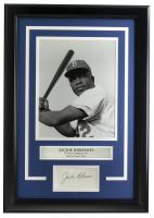 Jackie Robinson 14x18 Custom Framed Photo Display at PristineAuction.com