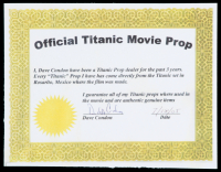 """Titanic"" 9.5x19 Custom Matted Movie Prop Ship Piece Display at PristineAuction.com"