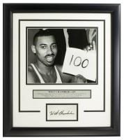 "Wilt Chamberlain Warriors ""100 Point Photo"" 14x18 Custom Framed Photo Display at PristineAuction.com"