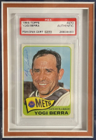 George Weiss & Yogi Berra Signed 11.5x19.5 Custom Framed Card & MLB Player Release Document Display (PSA LOA & PSA Encapsulated) at PristineAuction.com
