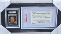 Ralph Houk & Yogi Berra Signed 11.5x19.5 Custom Framed Card & MLB Player Release Document Display (PSA Encapsulated & SGC Encapsulated) at PristineAuction.com