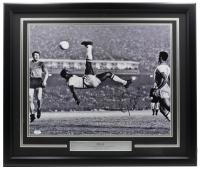 Pele Signed 22x27 Custom Framed Photo Display (JSA COA) at PristineAuction.com