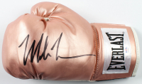 Mike Tyson Signed Everlast Rose Gold Boxing Glove (PSA COA) at PristineAuction.com