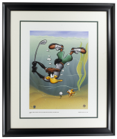 """LE Warner Bros. """"Daffy Duck Underwater"""" 16x20 Custom Framed Giclee Display at PristineAuction.com"""