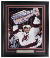 Martin Brodeur Signed Devils 22x27 Custom Framed Photo Display (Fanatics Hologram) at PristineAuction.com