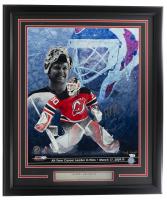 Martin Brodeur Signed Devils 22x27 Custom Framed Photo Display (Fanatics Hologram & Steiner Hologram) at PristineAuction.com