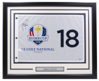 Justin Rose Signed Ryder Cup 21x27 Custom Framed Pin Flag Display (Beckett Hologram) at PristineAuction.com