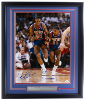 Dennis Rodman & Isiah Thomas Signed Pistons 22x27 Custom Framed Photo Display (Beckett COA) at PristineAuction.com