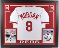 """Joe Morgan Signed 35x43 Custom Framed Jersey Inscribed """"HOF '90"""" (JSA COA) at PristineAuction.com"""