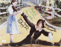"""""""The Wizard of Oz"""" 11x14 Photo Cast-Signed by (4) with Karl Slover, Mickey Carroll, Jerry Maren & Donna Stewart-Hardway with (3) Character Inscriptions (JSA COA) at PristineAuction.com"""