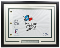 Phil Mickelson Signed 2014 Valero Texas Open 20x30 Custom Framed Flag Display (Beckett COA) at PristineAuction.com