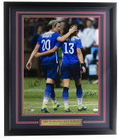 Alex Morgan & Abby Wambach Signed Team USA Soccer 22x27 Custom Framed Photo Display (JSA COA & TriStar Hologram) at PristineAuction.com