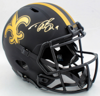 Drew Brees Signed Saints Eclipse Alternate Full-Size Speed Helmet (Beckett Hologram & Brees Hologram) at PristineAuction.com